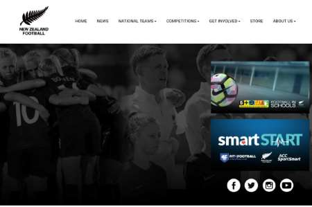 homepage of the official nzfc website